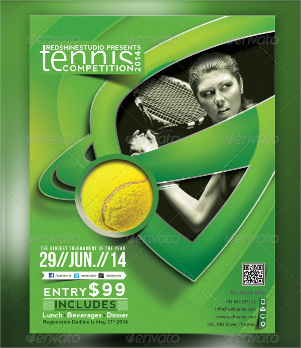 Tennis Competition Flyer