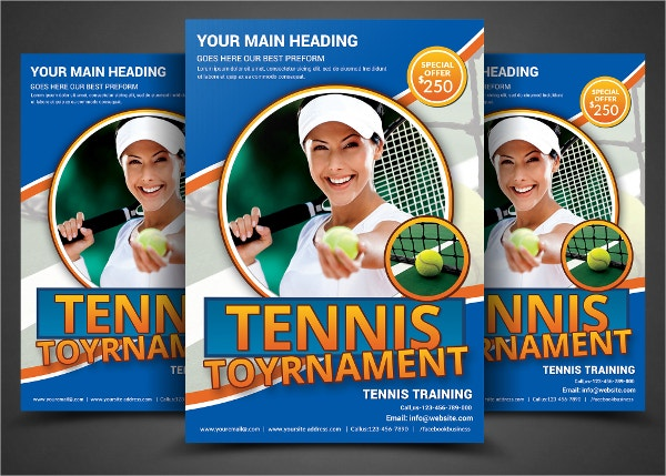 Modern Tennis Flyer Template