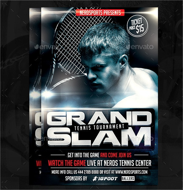 Grand Slam Tennis Sports Flyer