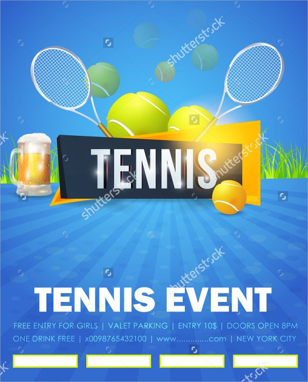 Tennis Flyer Templates  Free Psd Ai Vector Eps Format