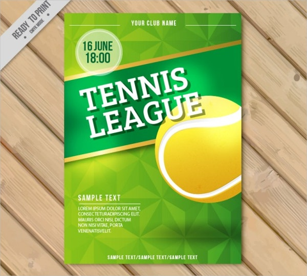 Tennis League Flyer Template