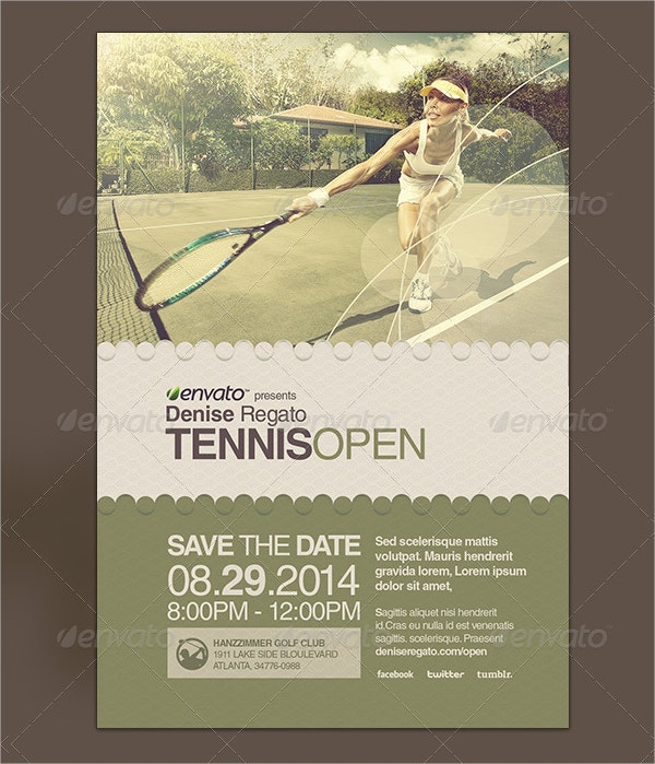 Tennis Open Flyer Template