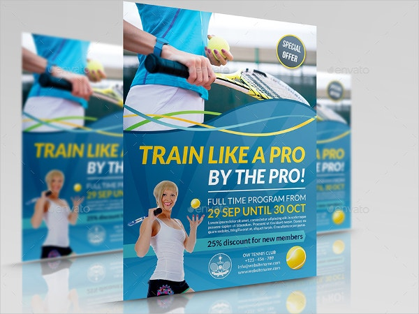 Tennis Training Flyer Template