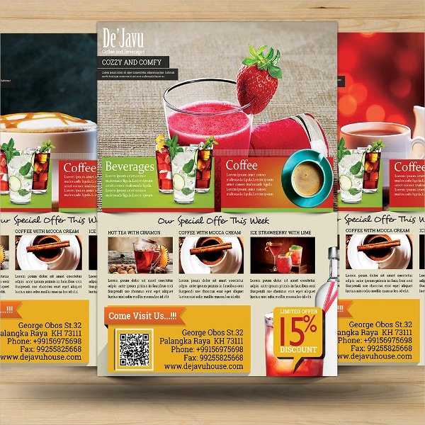 Coffee Shop and Beverages Promotion Flyer