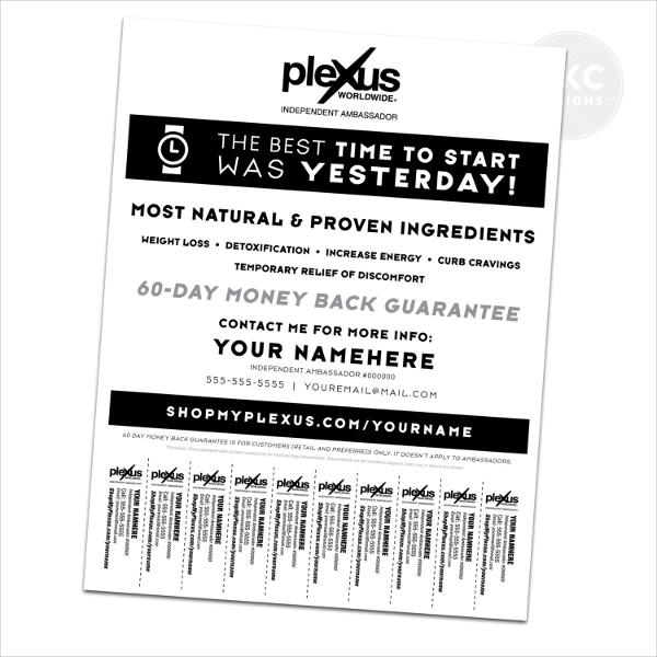 Plexus Promo Flyer