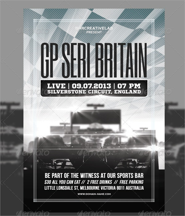 Racing Event Promo Flyer