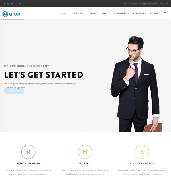 Responsive Business Service HTML5 Theme $48