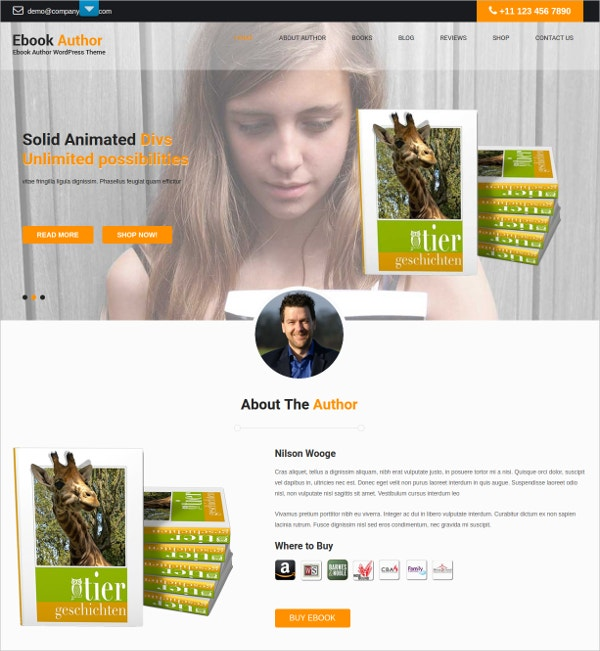 eBook Author HTML5 Theme $48
