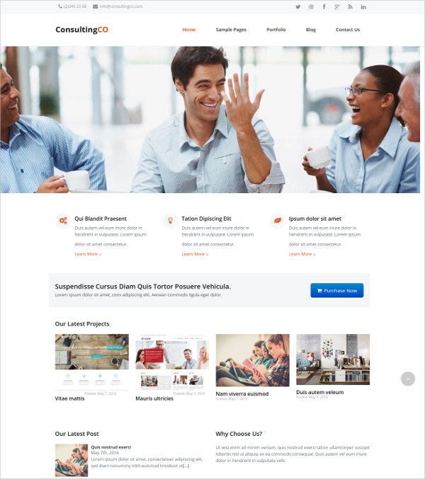 Business Consulting HTML5 Theme $59