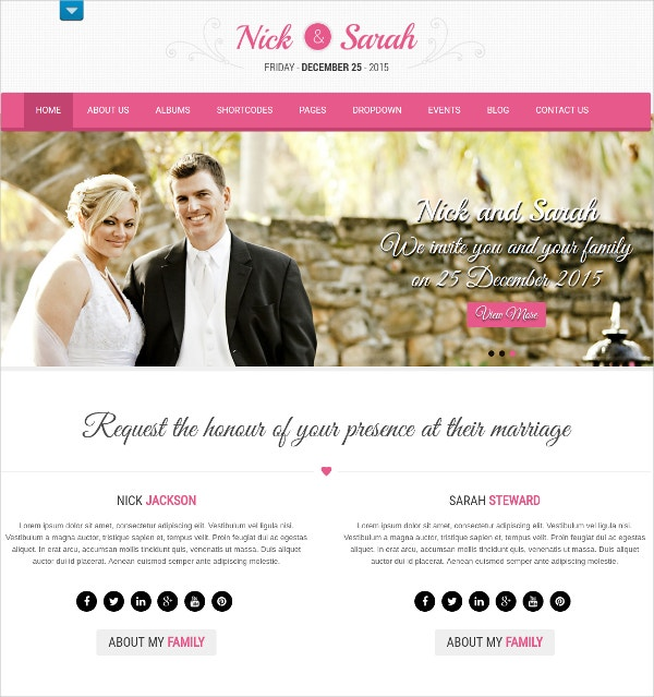 Wedding Ceremony HTML5 Theme $48