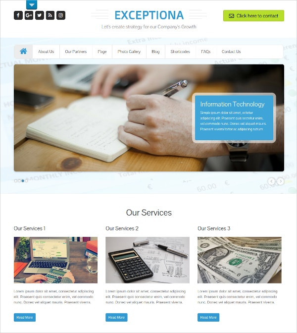 Financial & Accounting HTML5 Theme $48