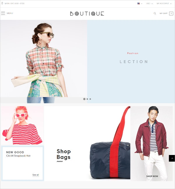 Responsive Fashion Store eCommerce Prestashop Theme $70