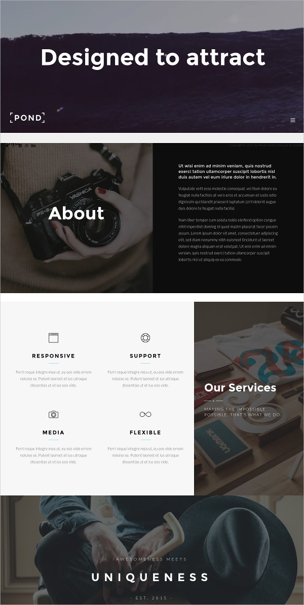 Minimalist Agency WordPress Theme