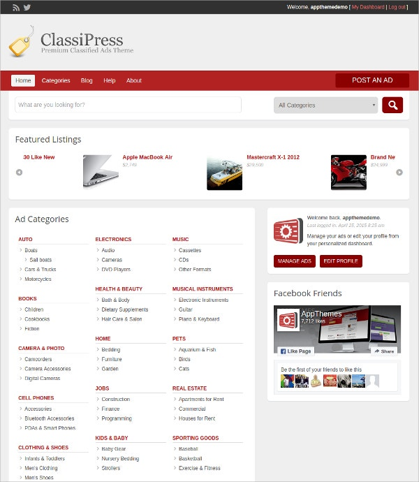 Powerful Classified Directory WordPress Theme