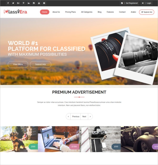 Design Classified WordPress Theme