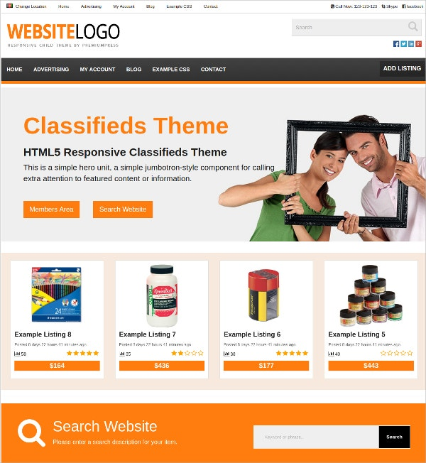 sample classified wordpress theme 79