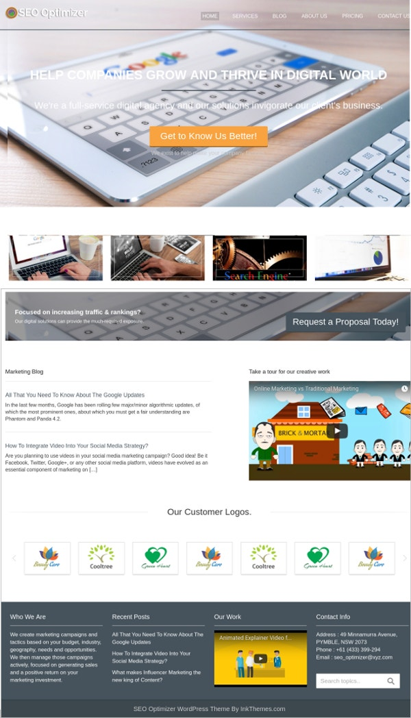 For SEO Agencies WordPress Theme