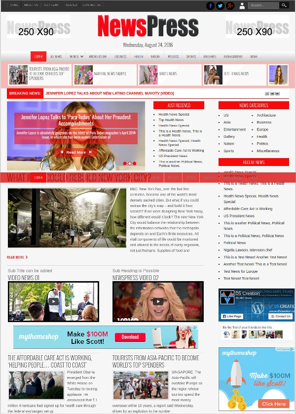 NewsPress Agency WordPress Theme