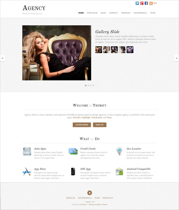 Minimal Responsive Agency WordPress Theme