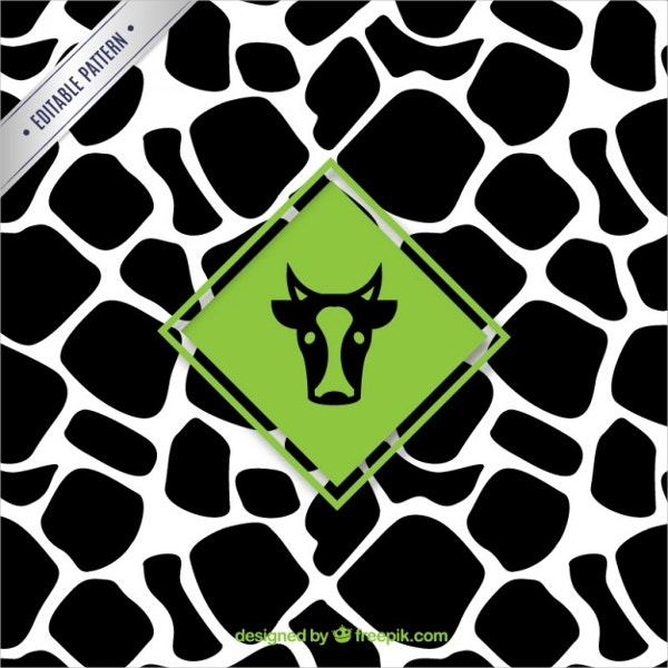Free Vector Label Cow Pattern