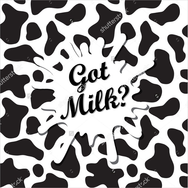 Black and white Pattern with Milk Spot