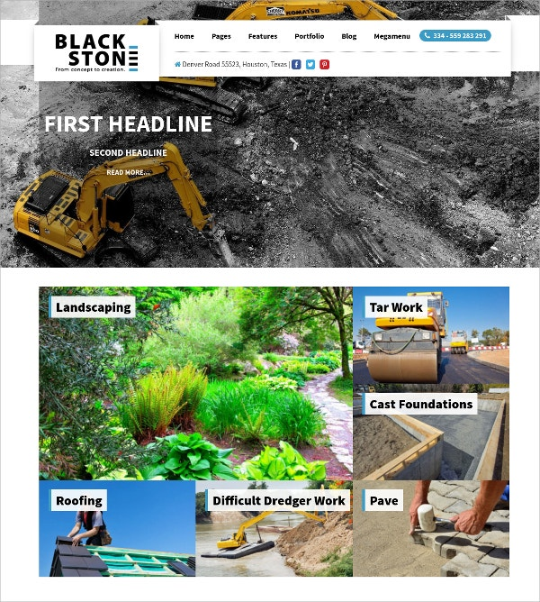 Building Construction Company WP Website Theme $69