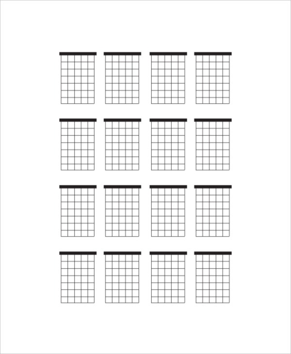 sample large blank guitar chord chart