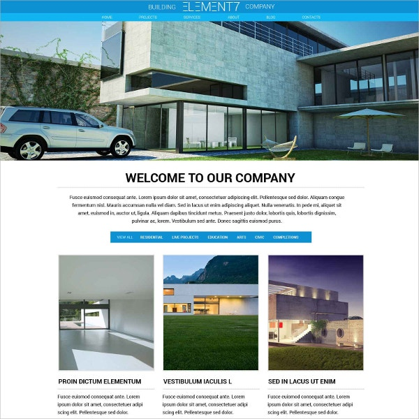 Building Business Construction Website Template $69