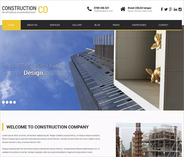 Simple Free Construction WP Website Theme