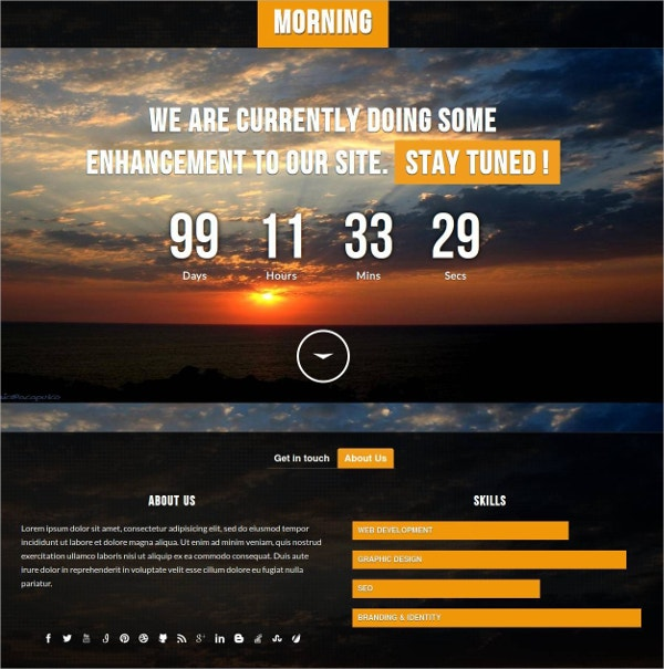 Responsive Construction Website Template $7
