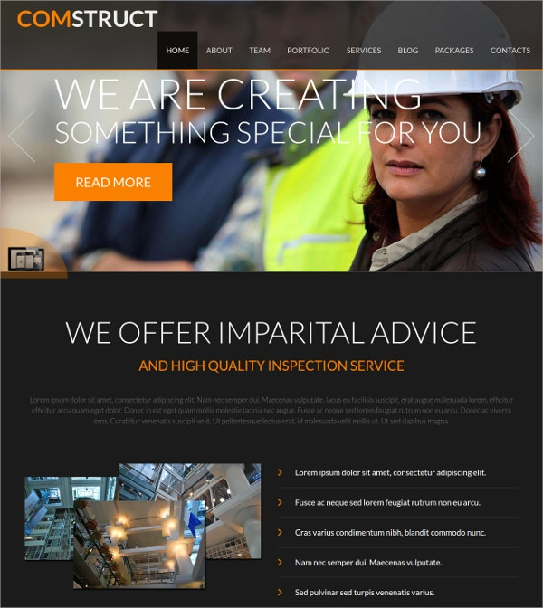 Business Construction Joomla Website Theme $35