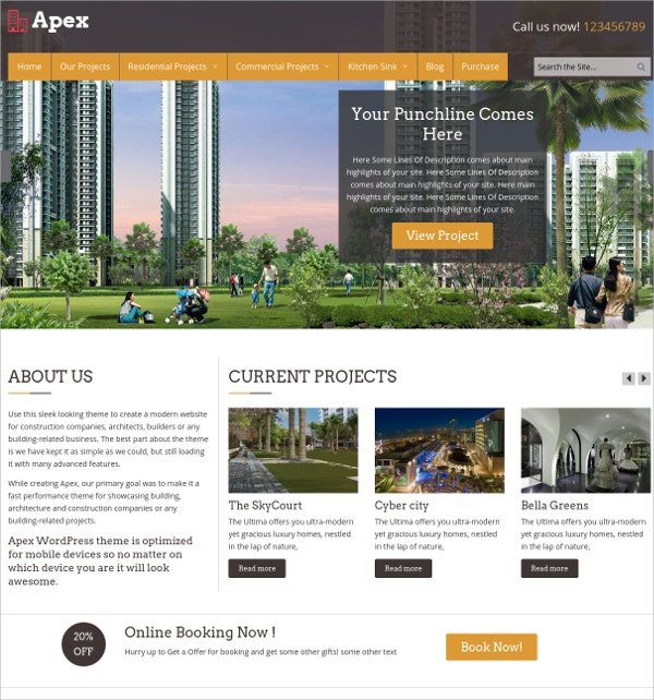 Beautiful Construction Website Theme