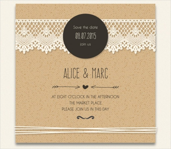Cardboard Wedding Invitation