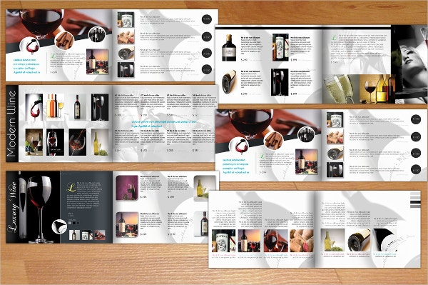 Wine A5 Modern Brochure