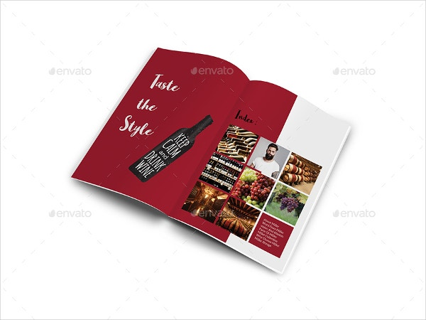 Clean Wine Brochure Template