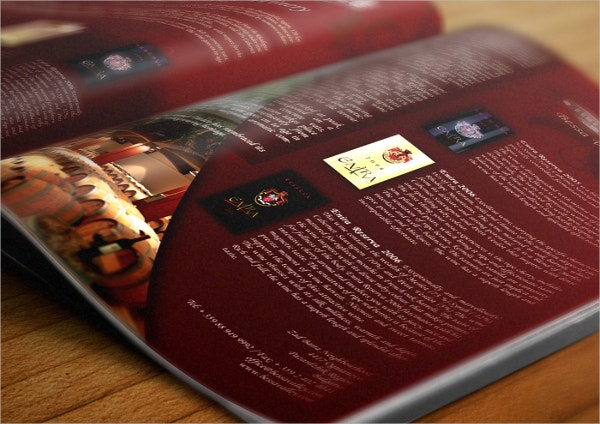 Winery Catalogue Brochure