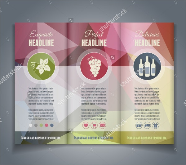 Vector Tri Fold Brochure Template
