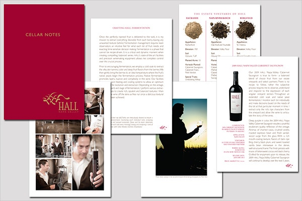 Winery Cellar Notes Brochure
