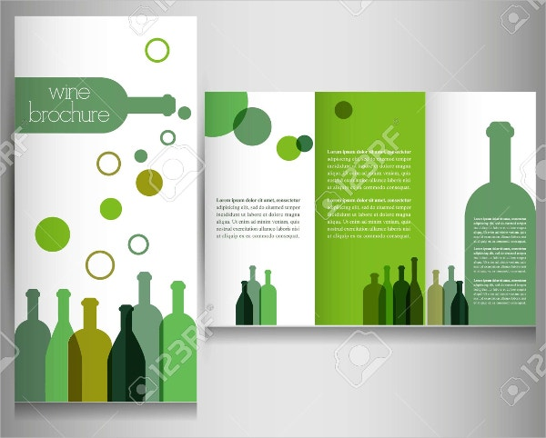 Wine Brochure Design Template Vector