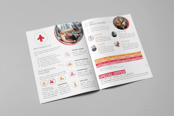 Bifold Gym Brochure