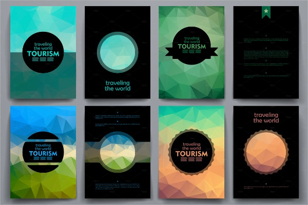 tourism brochures in poli style
