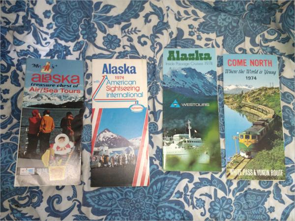 Vintage Alaska Tourism Brochures