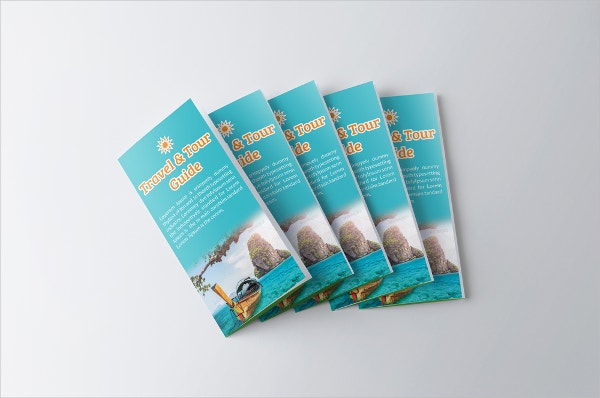 tourism guide trifold brochure