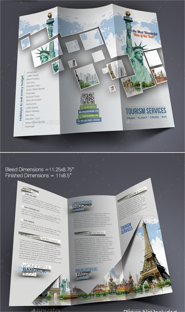 11 tourism brochures free psd ai eps format download free