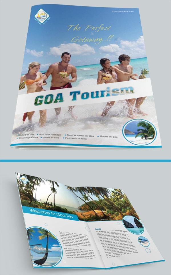 goa tourism brochure design