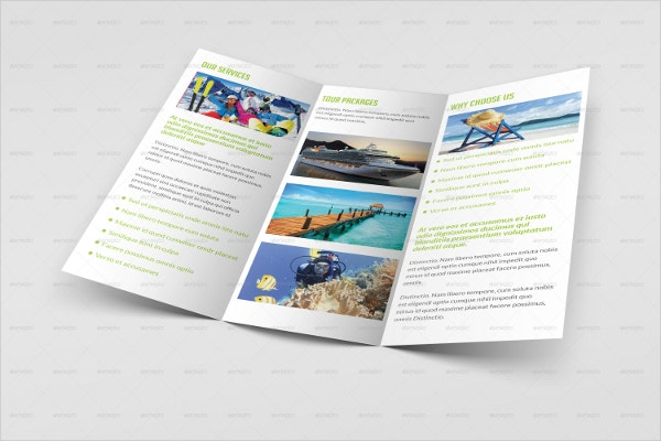 tourism trifold brochure
