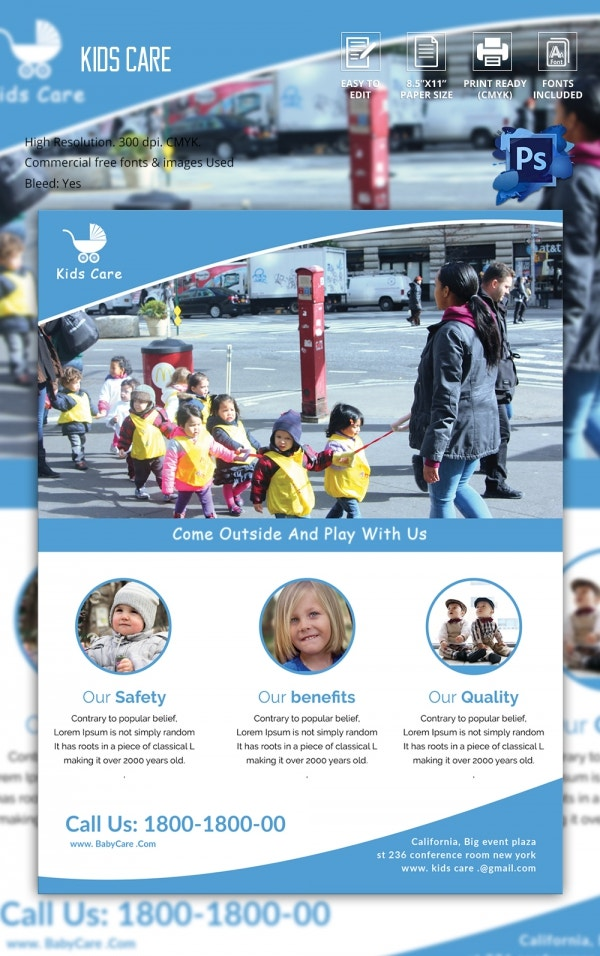 Freebie of The Day - Kids Care Flyer Template
