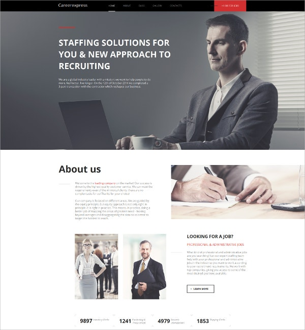 mobile career education html website template 139