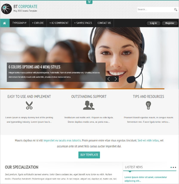 corporate business mobile for joomla website theme 38