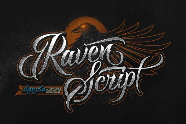 Raven Script Demo Font